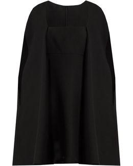 Cape-back Wool And Silk-blend Mini Dress