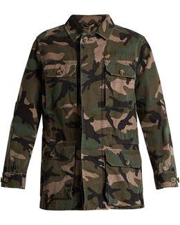 Camouflage-print Cotton Jacket
