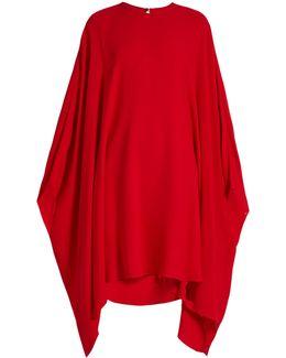 Round-neck Silk-crepe Dress