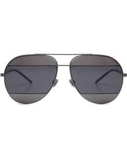 Split Aviator Sunglasses