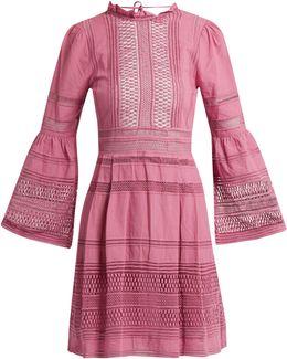 Ruffled Macramé-lace Cotton Dress