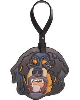 Rottweiler Leather Bag Charm