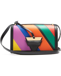 Barcelona Striped Leather Shoulder Bag