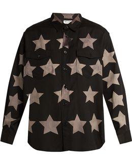Stars Print Cotton Blend Shirt