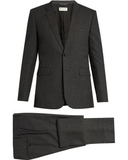 Notch-lapel Single-breasted Wool Suit