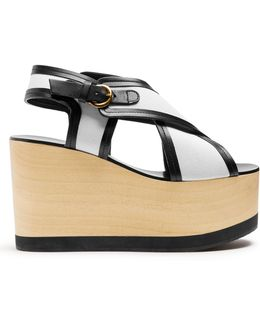 Zlova Cross-strap Canvas Wedges