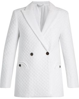 Mmm Pool Quilted Bamboo-blend Blazer