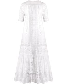 Lace-insert Broderie-anglaise Cotton Dress