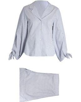 Bardeu And Basilio Striped Cotton Pyjama Set