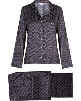 Brindisi Silk-satin Pyjama Set