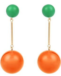 Contrast-sphere Drop Earrings
