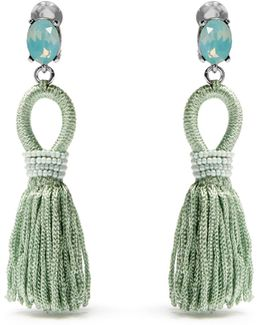 Short Tassel-drop Clip-on Earrings