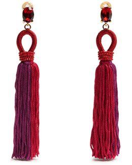 Tassel-drop Clip-on Earrings