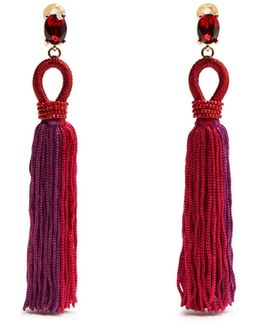 Tassel-drop Clip-on Earrings