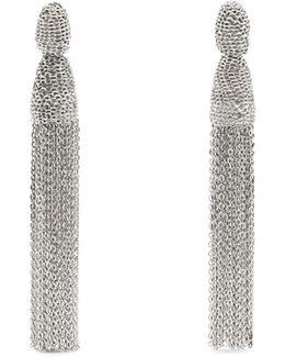 Chain Tassel-drop Clip-on Earrings