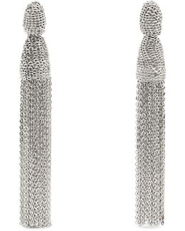Chain Tassel-drop Clip-on Earrings