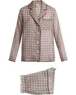 Cara Cotton And Silk-blend Pyjama Set