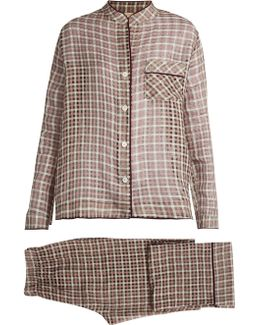 Mika Cotton And Silk-blend Pyjama Set