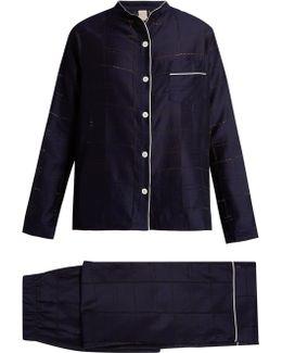 Mika Checked-devoré Pyjama Set