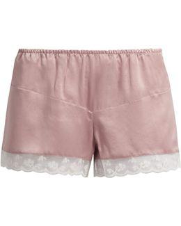 Bina Washed-silk Pyjama Shorts
