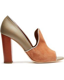 Grace Block-heel Open-toe Pumps