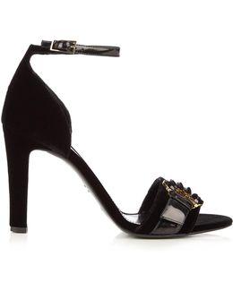 Helene Velvet Sandals