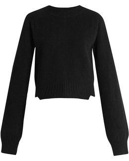 Invidia Asymmetric-hem Wool-blend Sweater