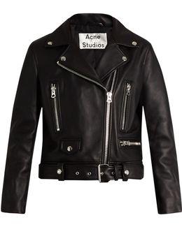 Mock Leather Biker Jacket