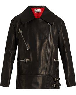 Morely Oversized Leather Jacket