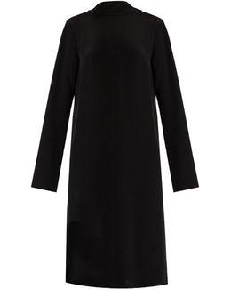 Tie-back Silk-crepe Dress
