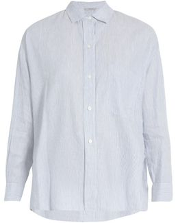 Striped Linen And Cotton-blend Shirt