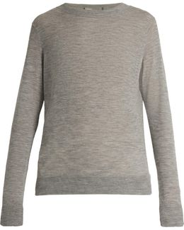 Distressed Crew-neck Cashmere Sweater