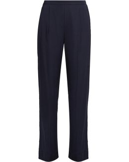 Wide-leg Stretch-satin Trousers
