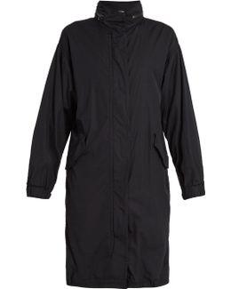 Drawstring-hem Cotton Coat