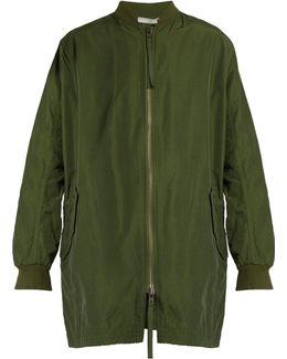 Zip-front Cotton-blend Coat