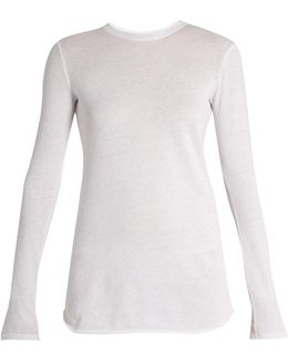Cotton And Cashmere-blend Long Sleeved T-shirt