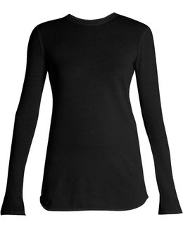 Cotton And Cashmere-blend Long-sleeved T-shirt