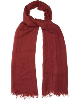 Frayed-edge Cashmere-blend Scarf