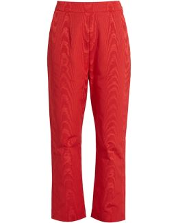 High-rise Faille Cropped Trousers