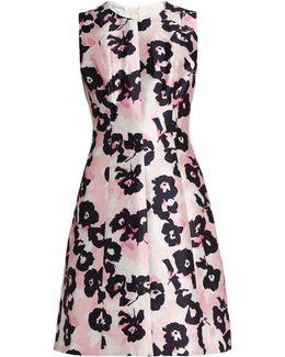 Floral-print Silk And Cotton-blend Dress