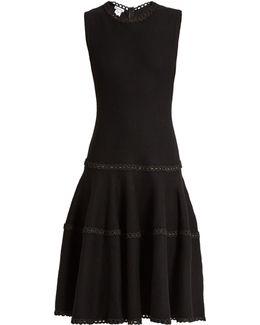 Sleeveless Wool And Silk-blend Dress