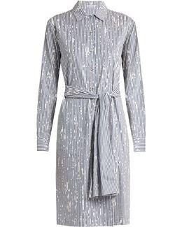 Painter Striped Cotton-blend Poplin Dress