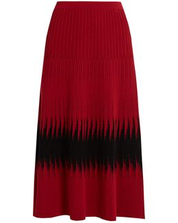 Abomb Ribbed-knit Midi Skirt