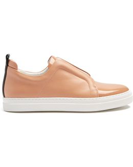 Slider Low-top Leather Trainers