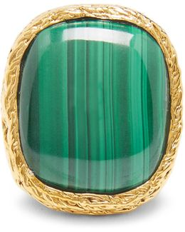 Miki Malachite & Gold-plated Ring