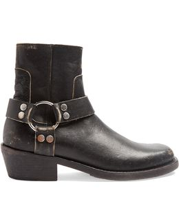 Santiago Distressed-leather Boots