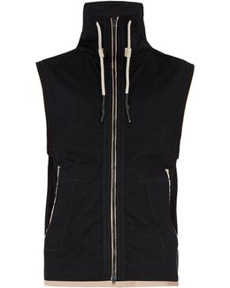 Water-resistant Sleeveless Track Top