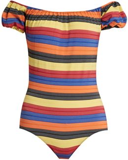 Leandra Striped Swimsuit