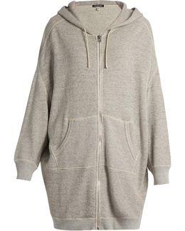 X-oversized Cotton-jersey Zip-through Sweater