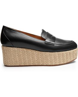 Brucco Leather Espadrilles